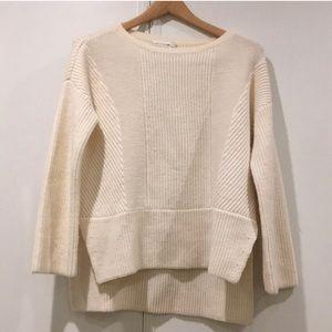 Rag & Bone Ivory Wool Knit Sweater
